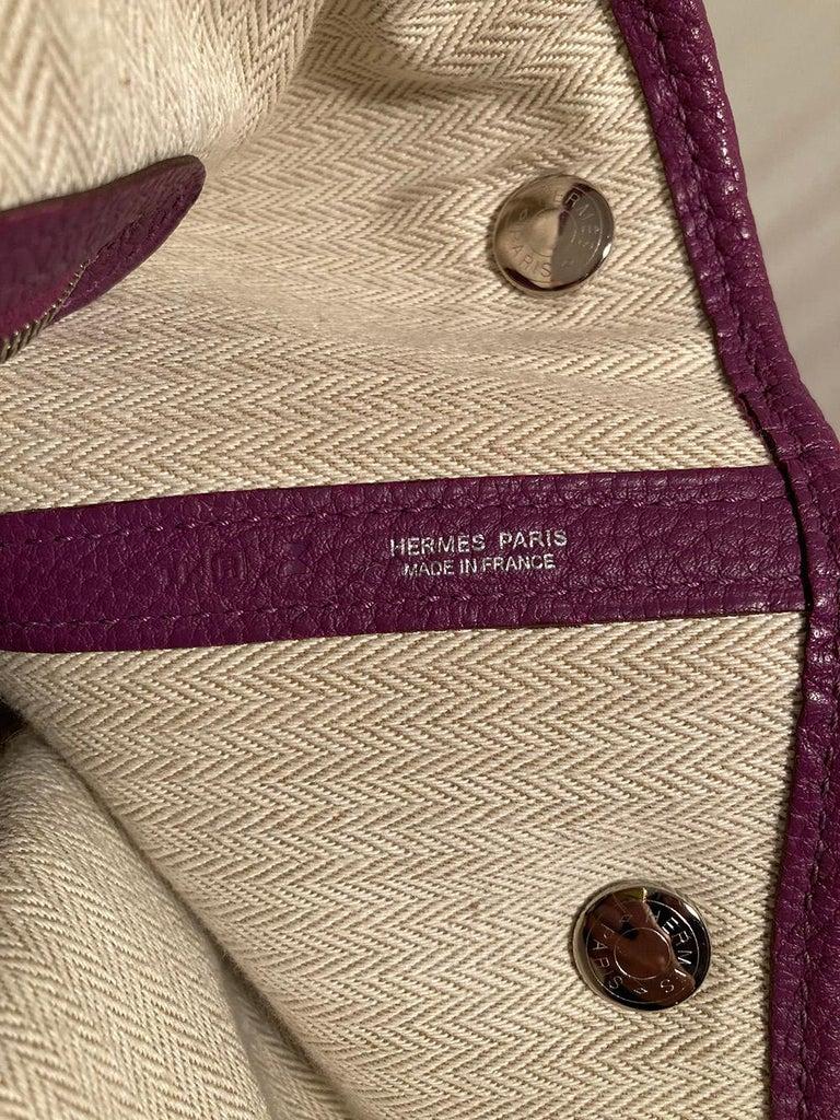 Hermes Purple Garden Party PM  For Sale 3