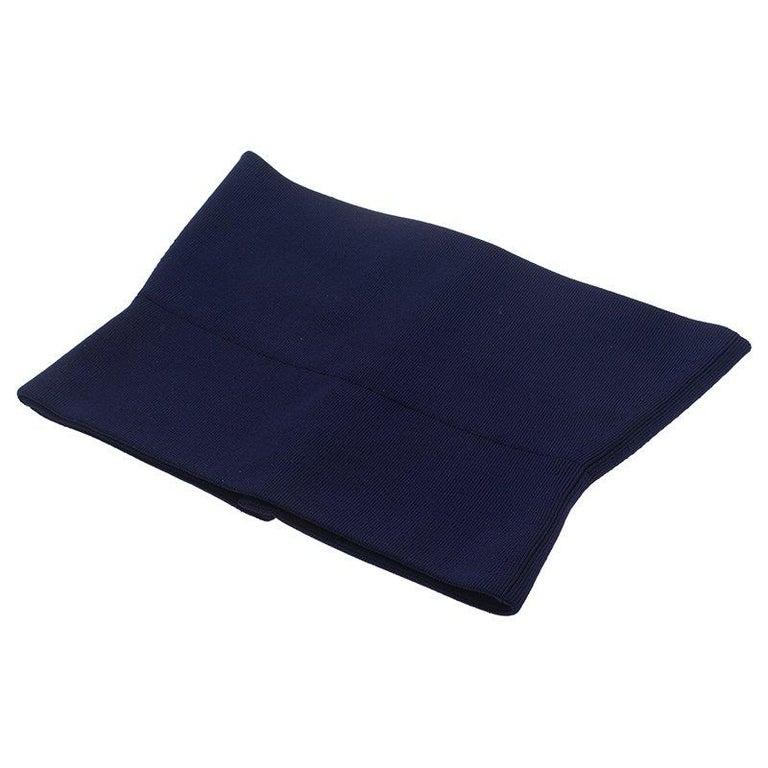 Black Hermes Purple Silk and Polyamide Wide Corset Belt Size EU 40 For Sale