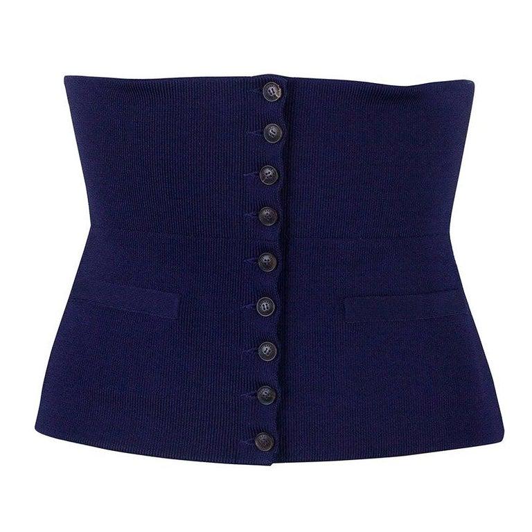 Hermes Purple Silk and Polyamide Wide Corset Belt Size EU 40 For Sale