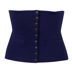 Hermes Purple Silk and Polyamide Wide Corset Belt Size EU 40