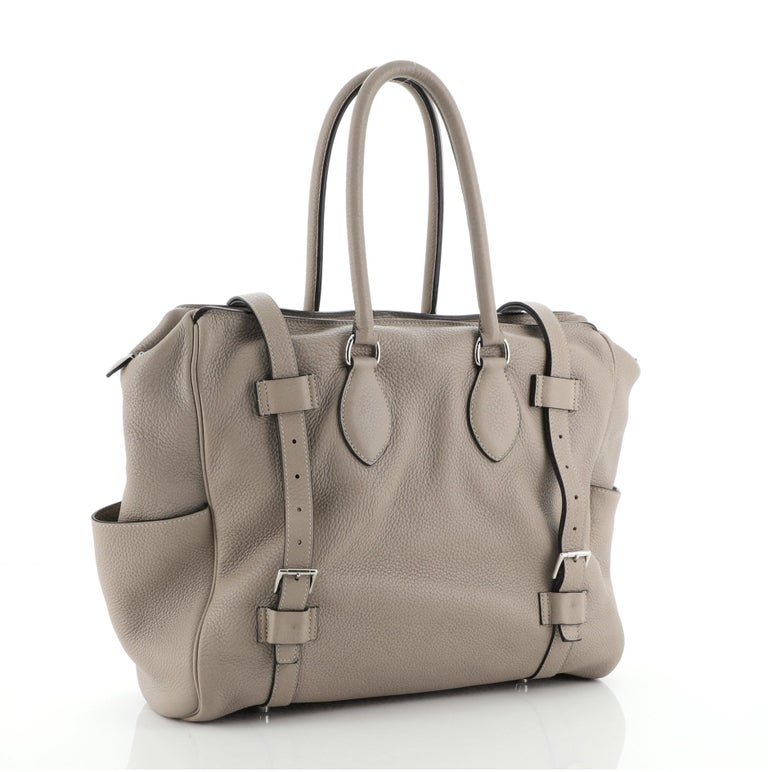 Hermes Pursangle Bag Leather 35 In Good Condition For Sale In New York, NY