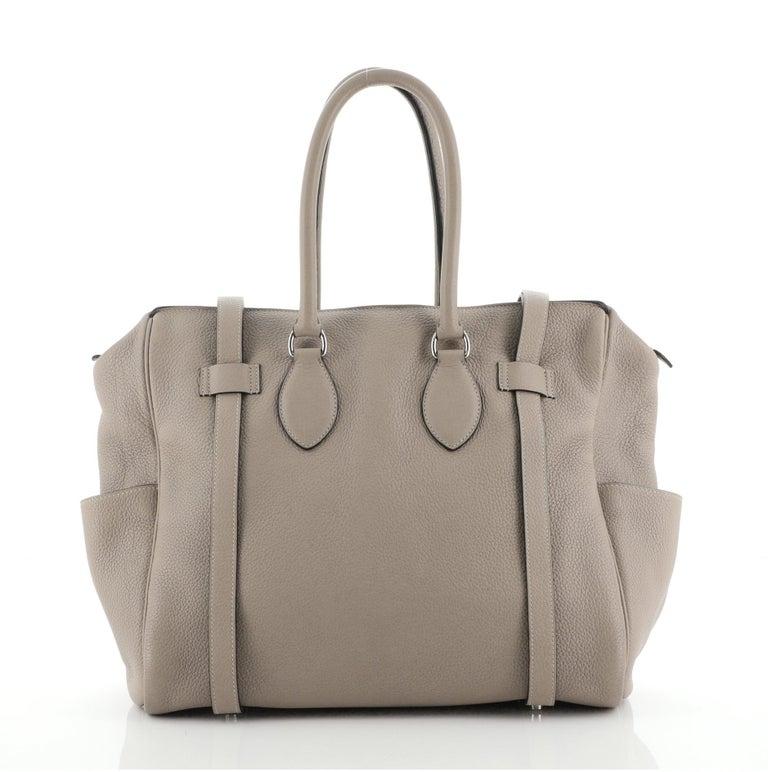 Women's or Men's Hermes Pursangle Bag Leather 35 For Sale