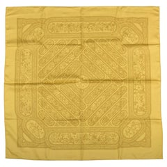 Hermes Qalamdan Yellow Silk Scarf, Box