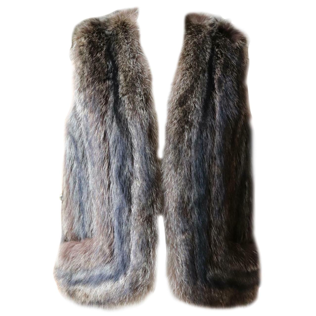 Hermès Raccoon Fur Gilet