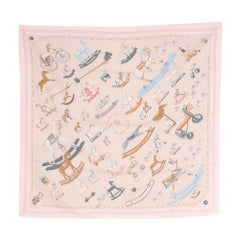 Hermes Raconte-Moi Le Cheval by Dimitri R Silk Scarf  one size