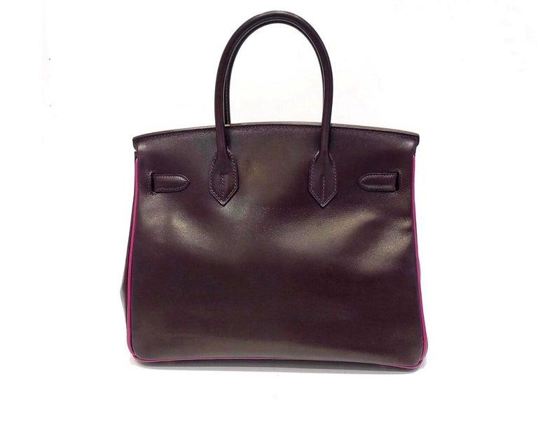 Hermès Raisin Birkin 30 Bag in Box Calf leather.2005 In Good Condition For Sale In Milan, IT