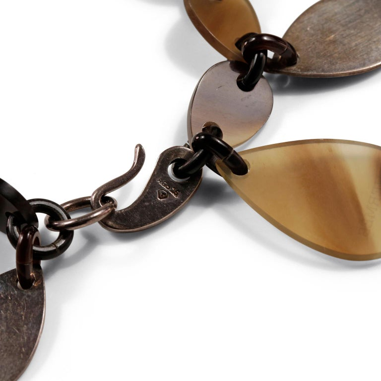 Hermès Raji Horn Bracelet In Good Condition For Sale In Palm Beach, FL