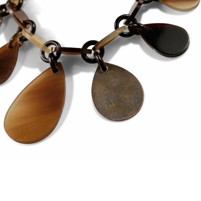 Women's or Men's  Hermès Raji Horn Bracelet For Sale