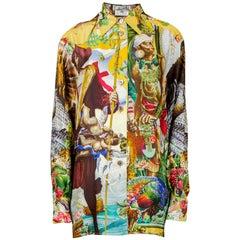 Hermes rare fashion history silk shirt  art by kermit Oliver. Circa 1992