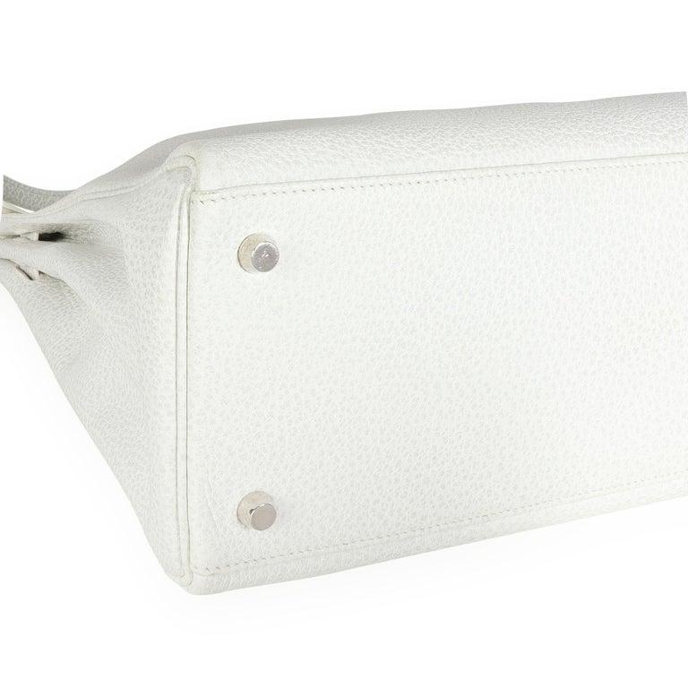 Hermès Rare White Dalmatian Retourne Kelly 35 PHW For Sale 1