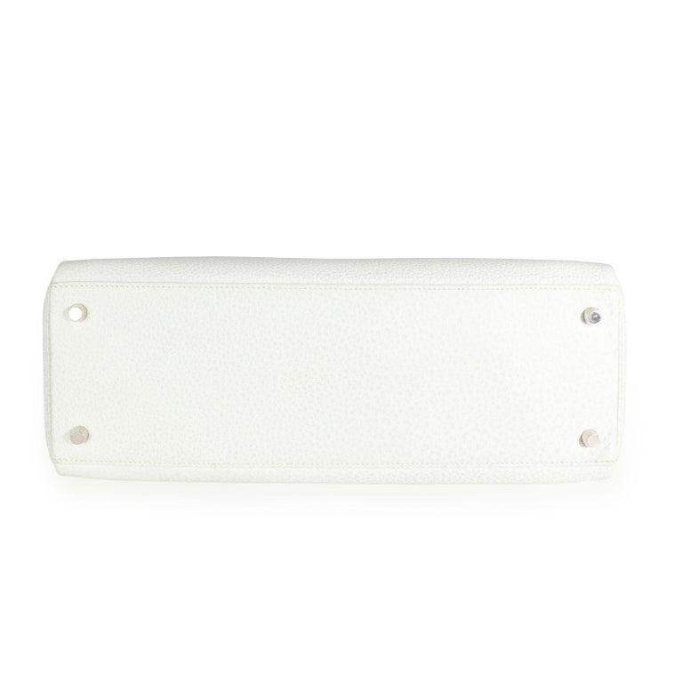 Hermès Rare White Dalmatian Retourne Kelly 35 PHW For Sale 2