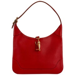 Hermes Red Chevre Mini Trim Bag