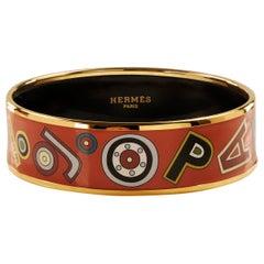 Hermès Red Enamel Tohu Bohu Bracelet
