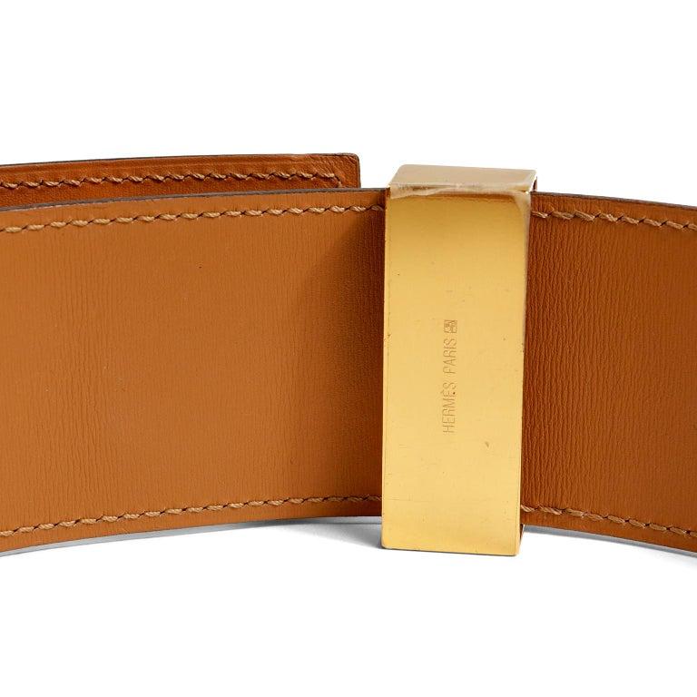 Hermès Red Epsom Leather Medor Belt size 80 For Sale 3