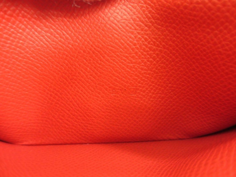 Hermes Red Leather Epsom Leather Gold 'H' Bearn Wallet in Box 3