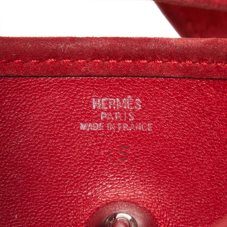 Hermes Red Leather Vespa TPM For Sale 2