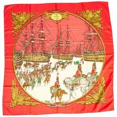Hermès Red Marine et Cavalerie Scarf