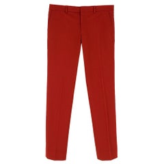 """Hermes Red Men's Tailored Trousers - Size 36"""" Waist"""