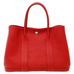 Hermès Red Negonda Leather Garden Party GM Tote