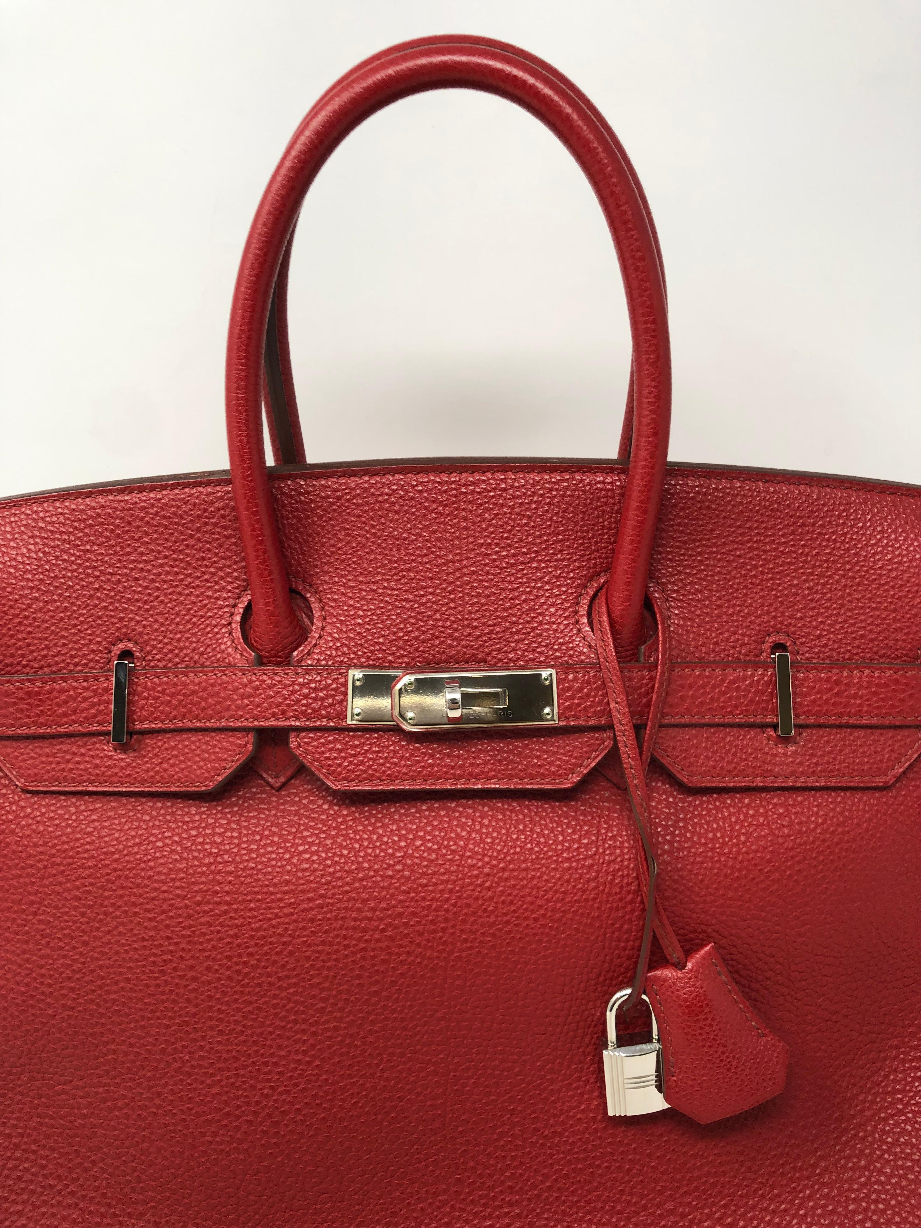 4a0d9a6b20b2 Hermes Red Rouge Garance Birkin 35 at 1stdibs