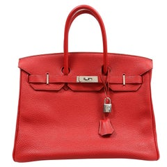 Hermès Red Togo 35 cm Birkin Bag