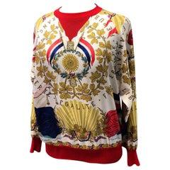 Hermes République Francaise Liberté Égalité Fraternité 1789 Silk Sweater