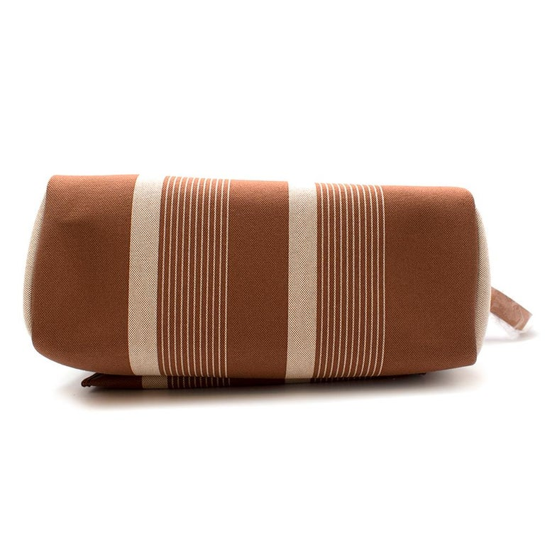 Brown Hermès Retourné HerBag Zip 29 in Toile H Plume H Vibration Canvas