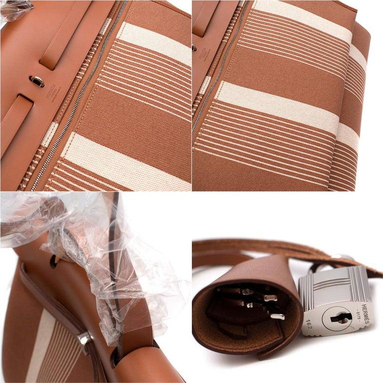 Hermès Retourné HerBag Zip 29 in Toile H Plume H Vibration Canvas  3
