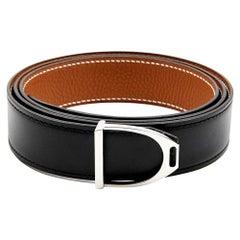 Hermes Reversible Belt Gold and Black