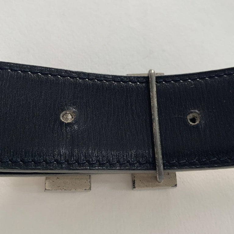 HERMES Reversible Belt in Off-White and Black Color Size 75 For Sale 5
