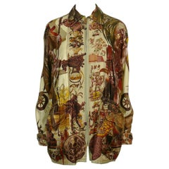 Hermes Reversible Jacket Les Ameriques & Faune et Flore du Texas by K. Oliver