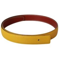 Hermès Reversible Leather Belt Strap