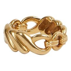 HERMES Ring In 18K Yellow Gold