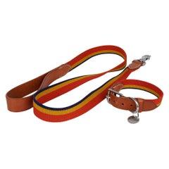 Hermes Rocabar Dog Collar Small Model w/ Leash New w/ Box