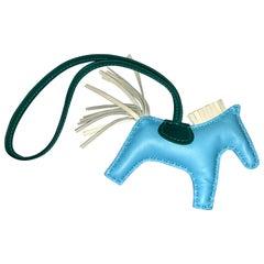 Hermes Rodeo Grigri PM Bag Charm Horse New Craie Ciel Malachite