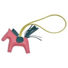 Hermes  Rodeo Horse  Agneau  Milo  Bag Charm PM Azalee Malachite NEW