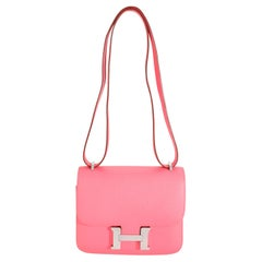 Hermès Rose Azalee Epsom Constance 18 PHW