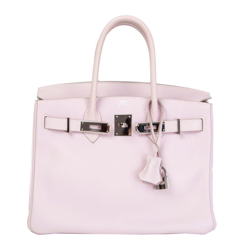 57143db0ce HERMES Rose Dragee pink Swift leather & Palladium BIRKIN 30 Bag In  Excellent Condition For Sale