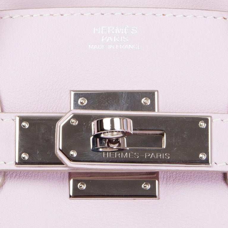 436b6ad860 HERMES Rose Dragee pink Swift leather & Palladium BIRKIN 30 Bag For Sale 1