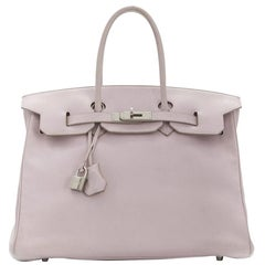 Hermès Rose Dragee Swift Leather 35cm Birkin Bag
