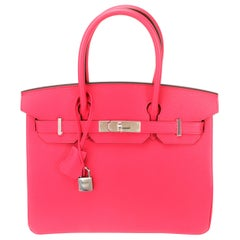 Hermès Rose Extreme Epsom Birkin 30 with Palladium Hardware
