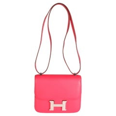 Hermès Rose Extreme Swift Constance 18 PHW