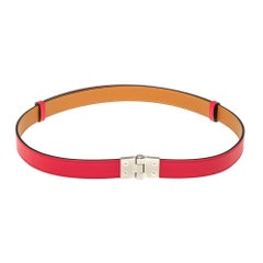Hermes Rose Extreme Veau Epsom Leather Charniere Belt S