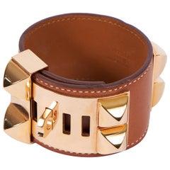 Hermes Rose Gold Barenia CDC Cuff