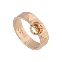 Hermès Rose Gold Collier De Chien Ring