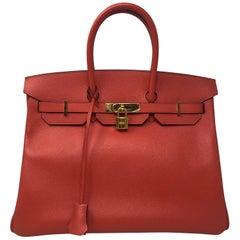 Hermes Rose Jaipur Birkin 35 Bag