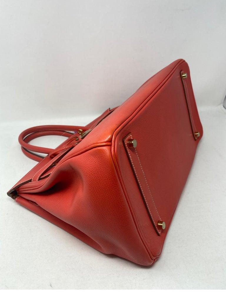 Hermes Rose Jaipur Candy Birkin 35 Bag For Sale 8