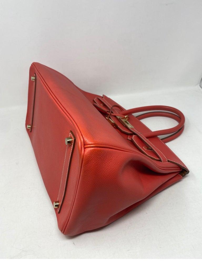 Hermes Rose Jaipur Candy Birkin 35 Bag For Sale 9