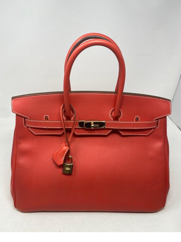 Hermes Rose Jaipur Candy Birkin 35 Bag For Sale 11