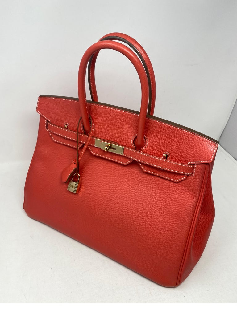 Hermes Rose Jaipur Candy Birkin 35 Bag In Excellent Condition For Sale In Athens, GA